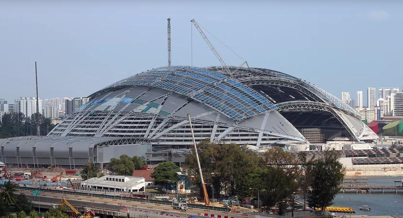 El domo más grande del mundo puede abrir sus compuertas gigantes en apenas 20 minutos