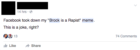 Facebook Removed a Stanford Rapist Meme and Users Are Pissed