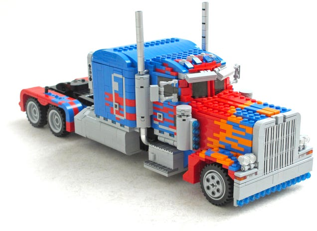 This Transforming Lego Optimus Prime Must Be Bending the Laws of Physics