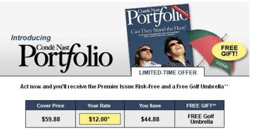 'Portolio' Not Yet Printed, Already $12 A Year