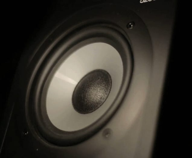 We can't stop watching this speaker wobble