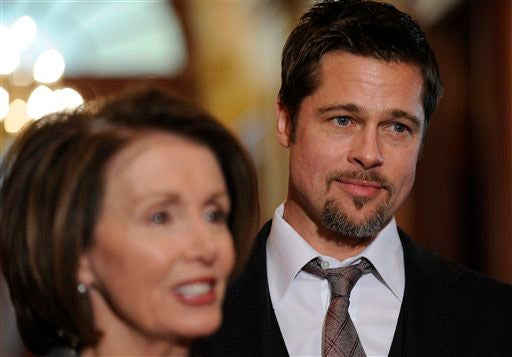 Hollywood On The Potomac: Brad Pitt Visits The Hill