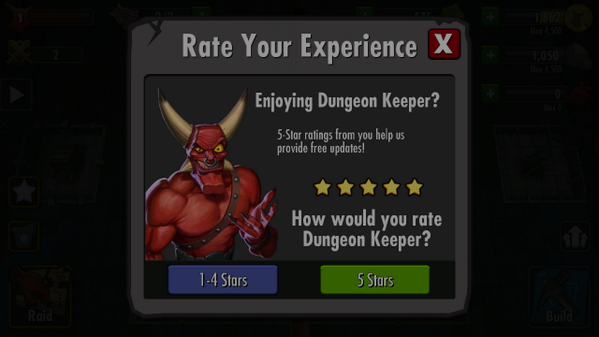Welcome To Mobile Gaming, Angry Dungeon Keeper Fans