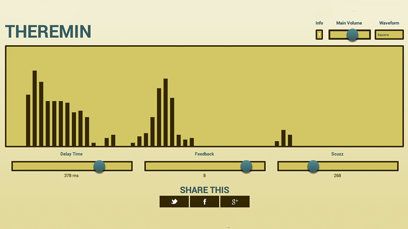 Turn Your Mouse Into a Weird Noise Factory With This Theremin Webpage
