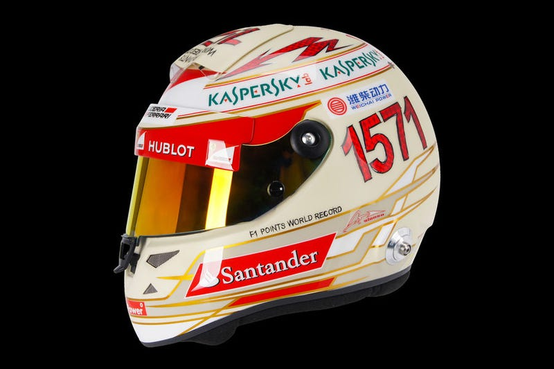 Alonso to celebrate questionable record on his helmet