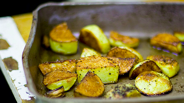 Preheat the Pan Before Roasting Vegetables