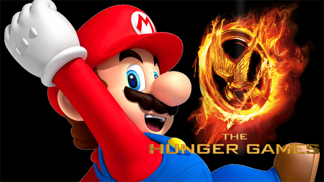 Unlikely Fan Fiction Crossover Battle: The Hunger Games Versus Mario Teaches Typing?
