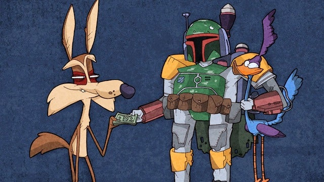 The Coyote finally catches the Road Runner, with a little help from Boba Fett
