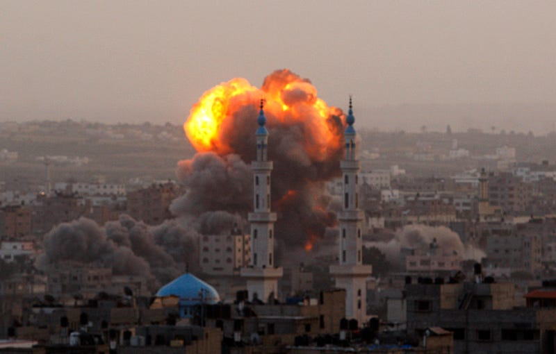 Israeli Fighter Jets Kill 8 Palestinians as Gaza Attacks Continue