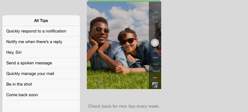 iOS 8 Comes With a New App That Teaches You How to Use Your iPhone