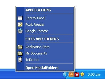 MedalFolders Makes Accessing Favorite Folders Quick and Easy