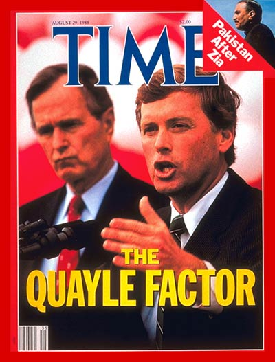 Dan Quayle Begs Republicans to Avenge His Loss