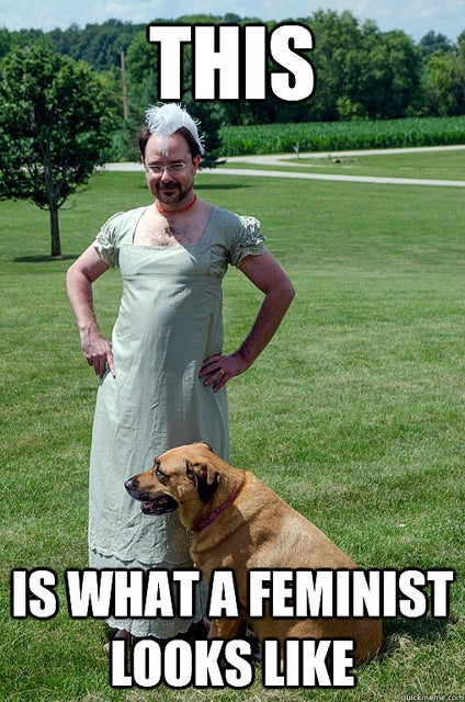 John Scalzi in a dress schools a dudebro