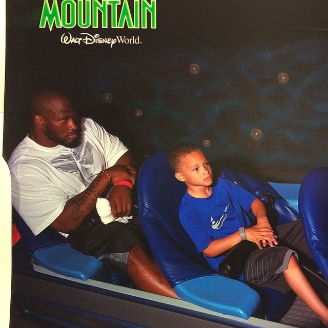 Photo Evidence That James Harrison Is Terrified Of Roller Coasters