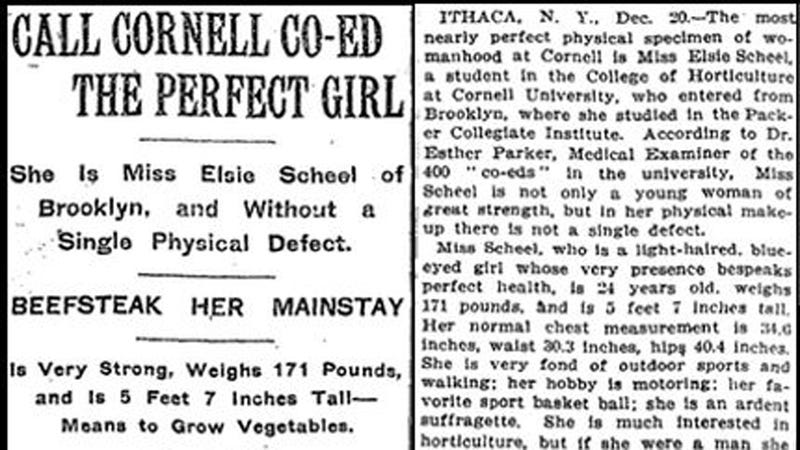 According to 1912, the 'Perfect Woman' Is From Brooklyn, Weighs 171 Pounds, and Aspires to Be a Dirt Farmer