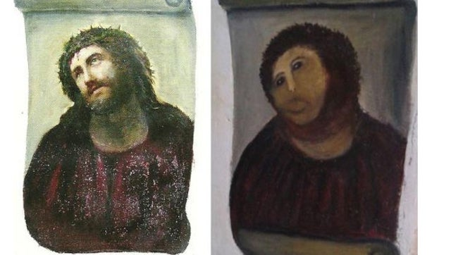 Thousands Sign Petition to Save Worst Fresco Touch Up Ever as Elderly Woman Responsible Speaks