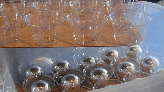 Make an Ornament Storage Container with Plastic Cups and Cardboard