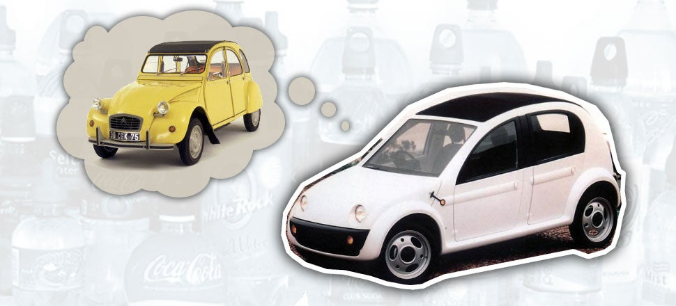 Chrysler Once Made A Modern 2CV From Recycled Soda Bottles
