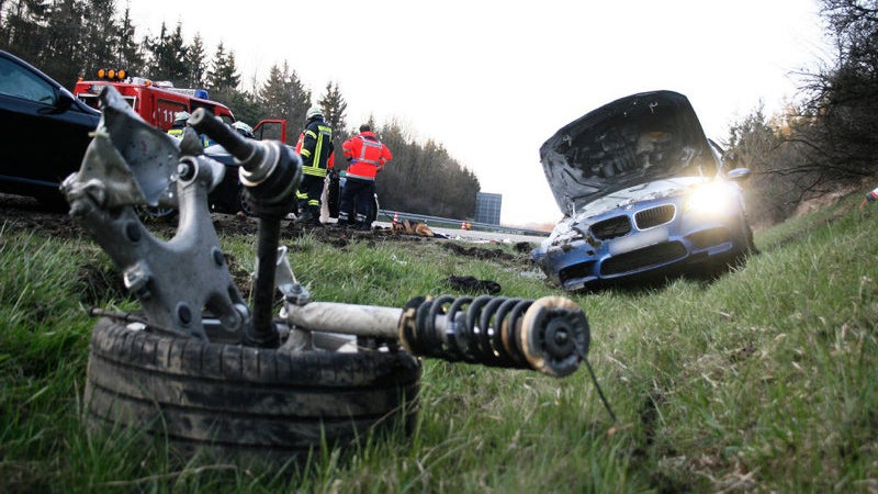 BMW F10 M5 Crash