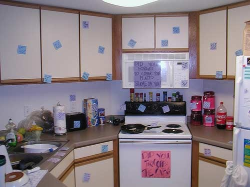 The Kitchen Of Passive-Aggressive Post-It Notes