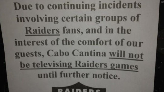 This Is Why Raiders Fans Can't Have Nice Things