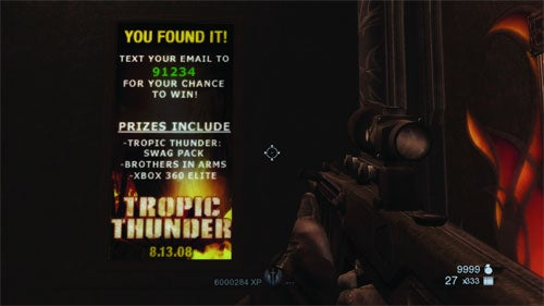 Rainbow Six Scavenger Hunt Promotes Tropic Thunder