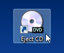 Create a Shortcut and Hotkey to Eject Your CD/DVD Drive