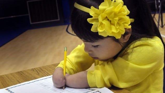 First-Grader With No Hands Wins National Handwriting Award