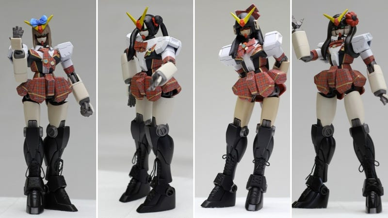 Gundam Mecha Modded into Young, Cute Girls