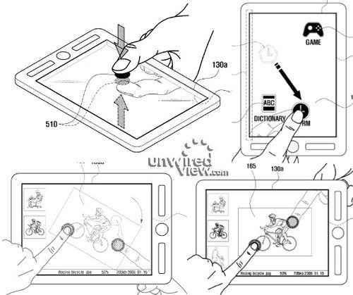 Samsung Files a Patent For a Front And Rear Touchscreen Tablet