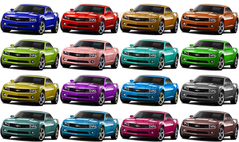 The New Chevy Camaro In A Skittles-Like Rainbow Of Colors, What's Your Favorite?
