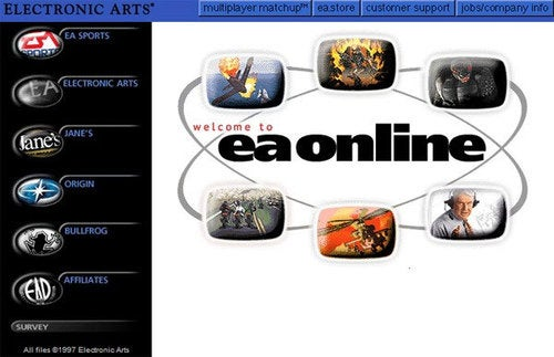 They Grow Up So Fast: EA's Website, Circa 1997