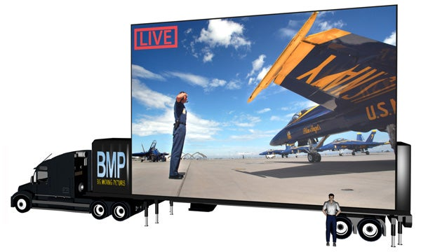 """BMP Preparing to """"Roll Out"""" 40-Foot Wide LED, HDTV Megascreens to an Event Near You"""