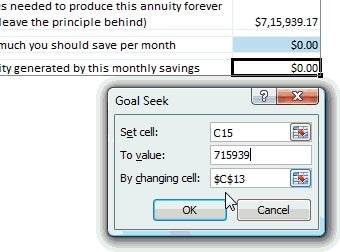 Plan Your Retirement with Excel's Goal Seek Function