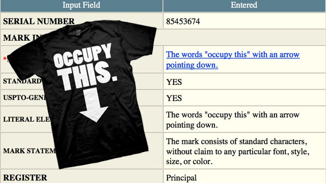 'Occupy This': the Other Occupy Wall Street Trademark