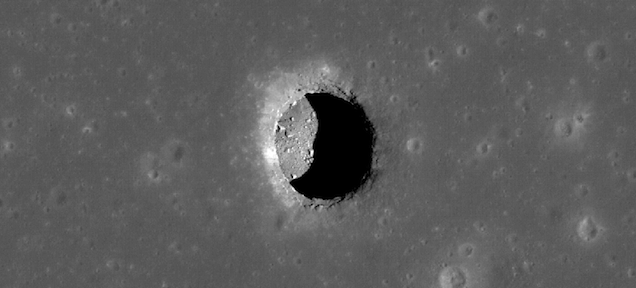 What's hiding behind these giant holes on the Moon?