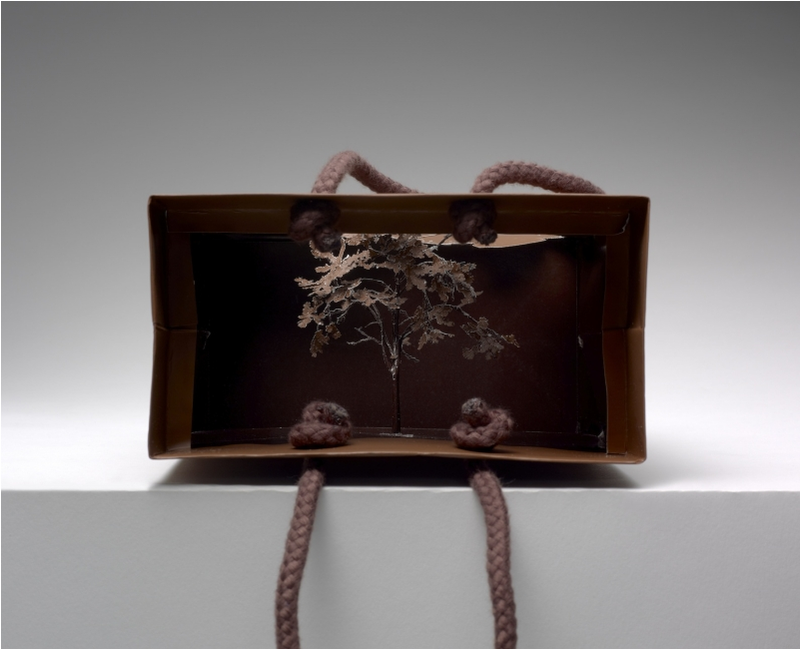Tiny, Intricate Trees Cut From Discarded Shopping Bags