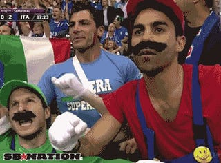 When You Have the Mario Bros. for Fans, You Cannot Lose at Euro Soccer