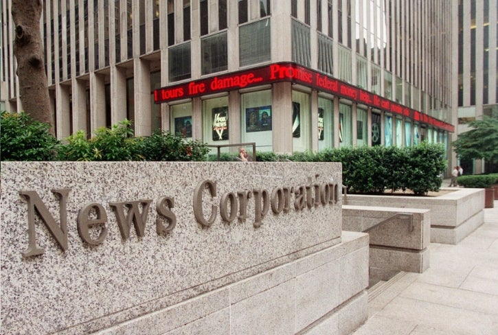 News Corp Continues Slowly Falling to Pieces