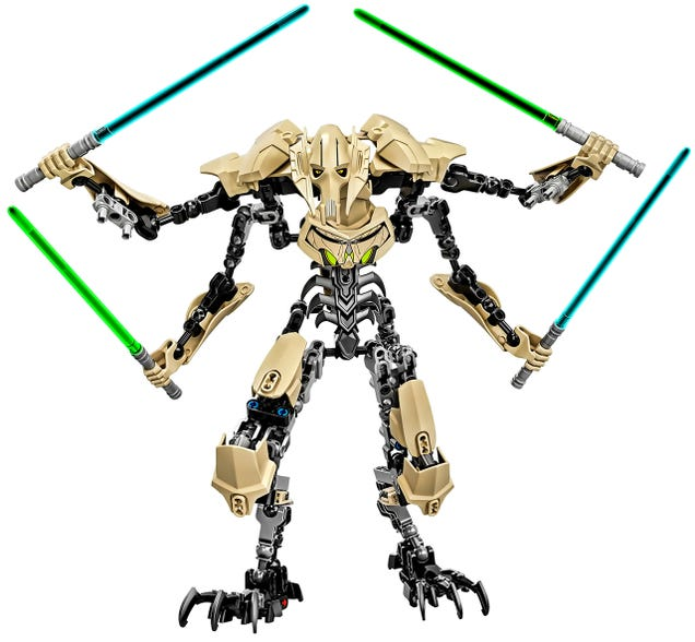 Build your own Obi-Wan Kenobi and General Grievous Lego figures