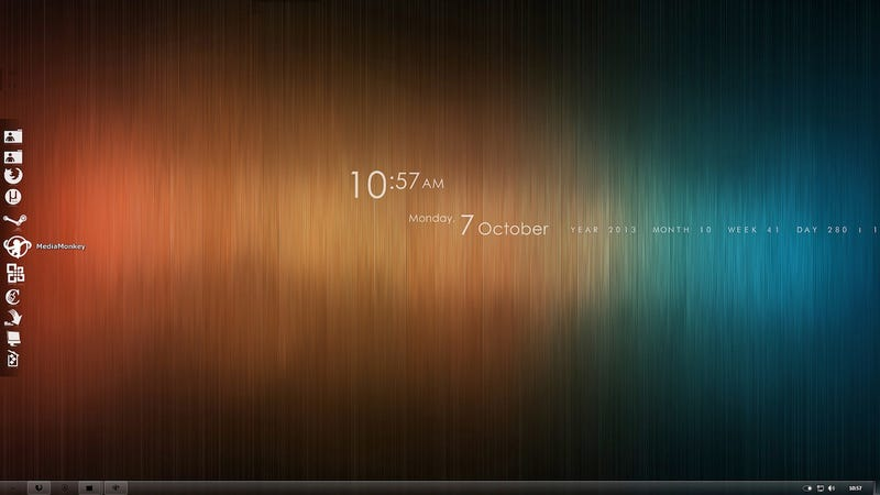 The Brushed Rainbow Desktop