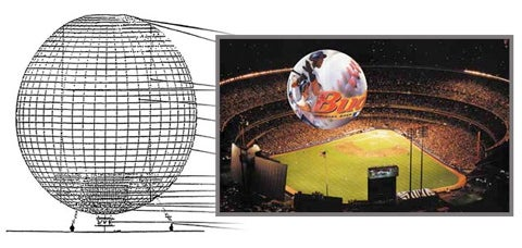 Blimp of the Future to be Blanketed with Video Advertising