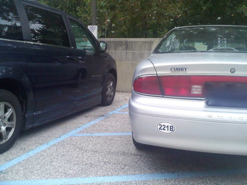 """Those blue lines mean no parking, bro"""