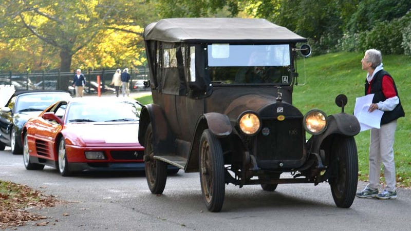 Ferrari 348 TS Gets Stuck Behind 1918 Buick