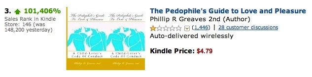 Amazon Pedophilia Guide Gets 101,000-Percent Sales Boost (Updated)