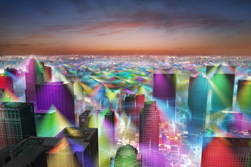 What the World Would Look Like If You Could See Cell Phone Signals