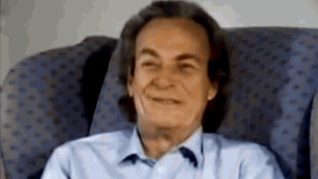 Listening to Richard Feynman explain rubber bands will make your week