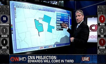 CNN Using Multitouch Monitors to Cover Super Tuesday