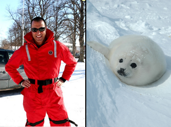 Nigel Barker is Saving Baby Seals, Wearing a Snowsuit