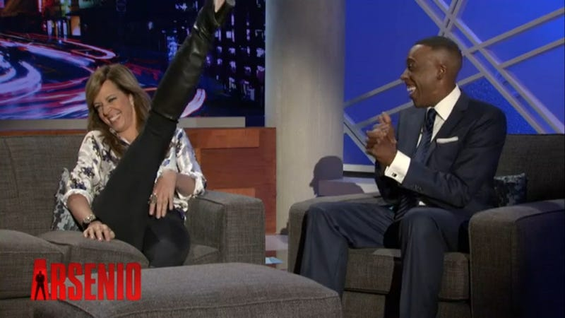 "Allison Janney Performing ""The Jackal"" on Arsenio Is Must See TV"